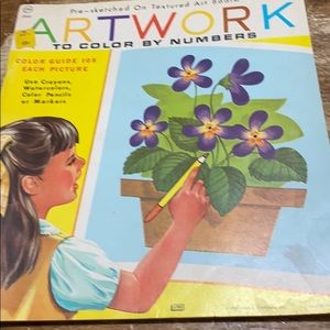 "Vintage 1969 ""Artwork"" Color by Number Book"